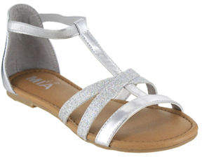 Mia Hazel Metallic T-Strap Sandals