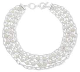 Lauren Ralph Lauren Faux Pearl and Silvertone Layered Necklace