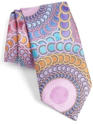 Men's Ermenegildo Zegna Medallion Silk Tie $385 thestylecure.com