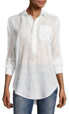 Polo Ralph Lauren Linen Tunic $198 thestylecure.com
