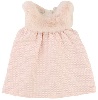 Chloe Sleeveless Faux-Fur Dress, Size 12-18 Months $220 thestylecure.com