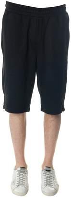 McQ Black Cotton Blend Zipped Shorts