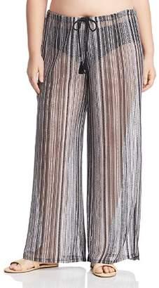 Becca Etc Plus Pierside Crochet Swim Cover-Up Pants