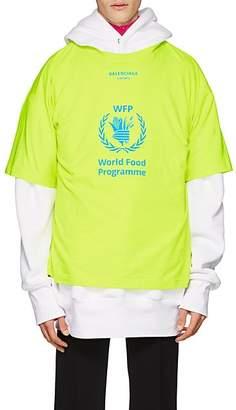 Balenciaga Men's World Food Programme Cotton T-Shirt - Yellow