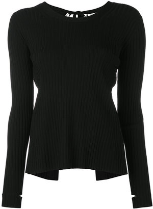 Helmut Lang thumb holes knitted blouse