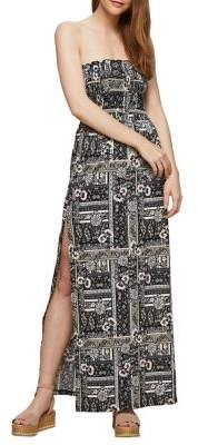 Miss Selfridge Shirred Bandeau Maxi Dress