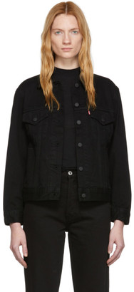 Levi's Levis Black Denim Ex-Boyfriend Trucker Jacket