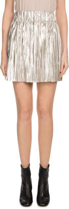 Etoile Isabel Marant Delpha High-Rise Metallic Short Skirt