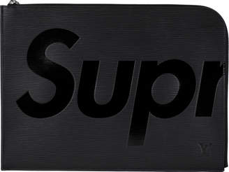 Louis Vuitton x Supreme Pochette Jour Epi GM Black