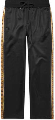 Versace Striped Jersey Sweatpants - Black