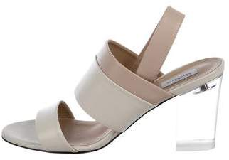 Max Mara Leather Slingback Sandals