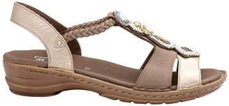 ara Hawaii Metallic Gold/Taupe Sandal
