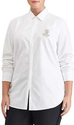 Lauren Ralph Lauren Plus Cotton Poplin Shirt