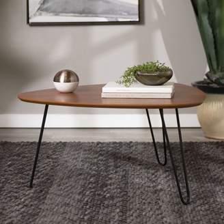 "Manor Park 32"" Mid-Century Hairpin Leg Wood Coffee Table - Walnut"