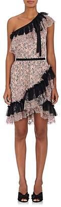 Philosophy di Lorenzo Serafini Women's Floral Lace One-Shoulder Minidress
