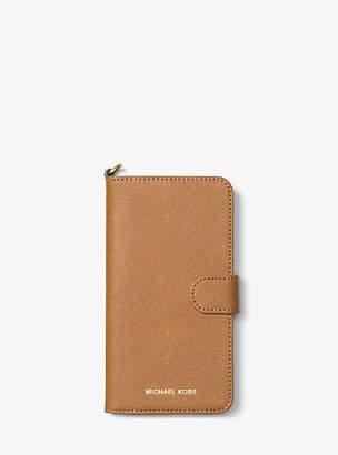 Michael Kors Saffiano Leather Folio Phone Case For Iphone7/8 Plus