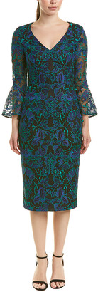 Carmen Marc Valvo Midi Dress