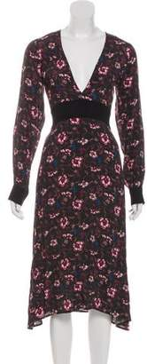 For Love & Lemons Floral Print Midi Dress