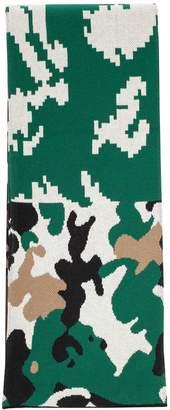 Gosha Rubchinskiy Jacquard Camouflage Scarf