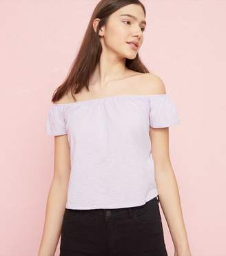 Garage Off-Shoulder Top