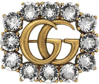 Gucci (グッチ) - Gucci ダブルG クリスタル ブローチ