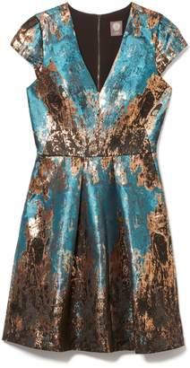 Vince Camuto Jacquard Metallic Dress