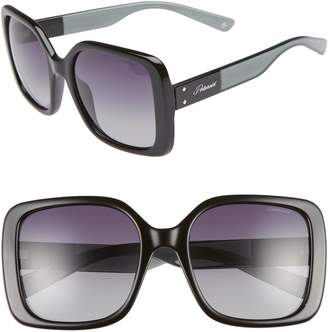 Polaroid 55mm Polarized Square Sunglasses