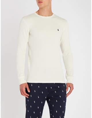 Polo Ralph Lauren Waffle-knit stretch-cotton sweatshirt