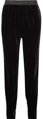 Ulla Johnson Monique Velvet Tapered Pants - Black