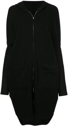 Taylor panelled concave coat