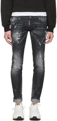 Dsquared2 Black Clement Jeans $580 thestylecure.com