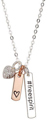 Footnotes Footnotes She Rocks Womens Clear Crystal Silver Over Brass Pendant Necklace HlaiehE7
