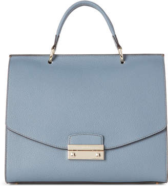 Furla Dolomia Julia Medium Leather Top Handle Satchel