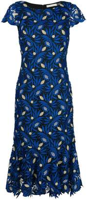Alice + Olivia Alice+Olivia embroidered floral midi dress