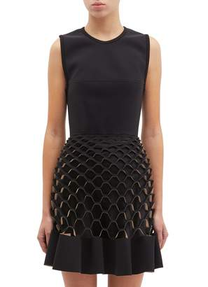 Dion Lee 'Honeycomb' lasercut sleeveless peplum dress