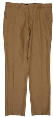 Balenciaga Virgin Wool Flat Front Pants