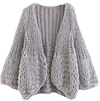Goodnight Macaroon 'Lillibeth' Chunky Knit Cardigan (3 Colors)