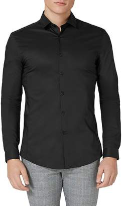 Topman Muscle Fit Stretch Poplin Shirt