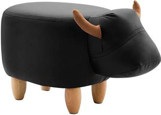 Big Fun Club Demmy Kids' Stool, Black Cow