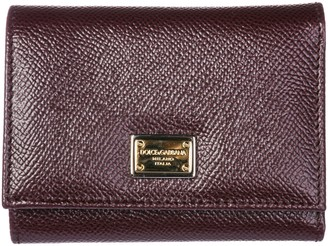 Dolce & Gabbana Genuine Leather Wallet Credit Card Trifold