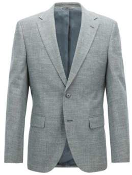 BOSS Hugo Regular-fit blazer in micro-patterned Italian cotton 42R Dark Green