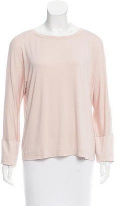 Pink Tartan Long Sleeve Scoop Neck Top w/ Tags $65 thestylecure.com