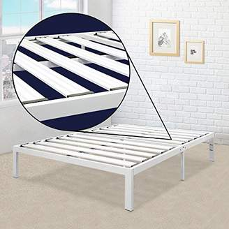 Best Price Mattress Queen Bed Frame - 14 Inch Metal Platform Beds [Model E] w/ Steel Slat Support (No Box Spring Needed)