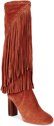 INC International Concepts Women's Tolla Tall Fringe Boots, Only at Macy's $229.50 thestylecure.com