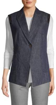 Brunello Cucinelli Notch Lapel Denim Vest