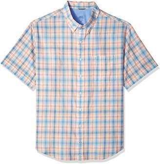 Izod Men's Tall Saltwater Chambray Short Sleeve Shirt