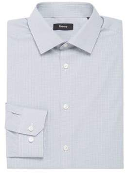 Theory Slim-Fit Dover Mini Gingham Dress Shirt