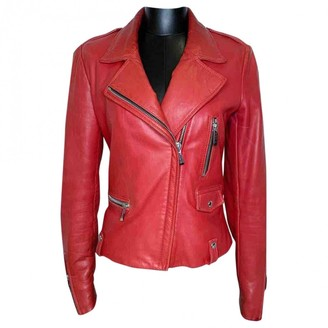 Barbara Bui Red Leather Jacket for Women