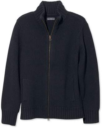 L.L. Bean L.L.Bean Men's Signature Mapleton Wool Sweater, Zip Cardigan