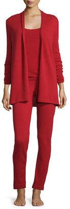 Neiman Marcus Cashmere Collection Cashmere Cardigan, Tank & Pant Set $395 thestylecure.com